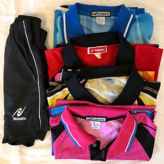 バタフライ(BUTTERFLY)の卓球 ゲームシャツ 4着 & ショーツ 1着 ( L サイズ )(卓球)
