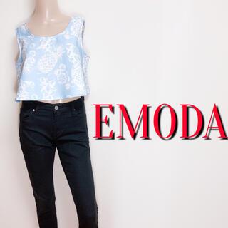 EMODA - 新品タグ付き♪エモダ ボタニカルデザイントップス♡ムルーア ジェイダ