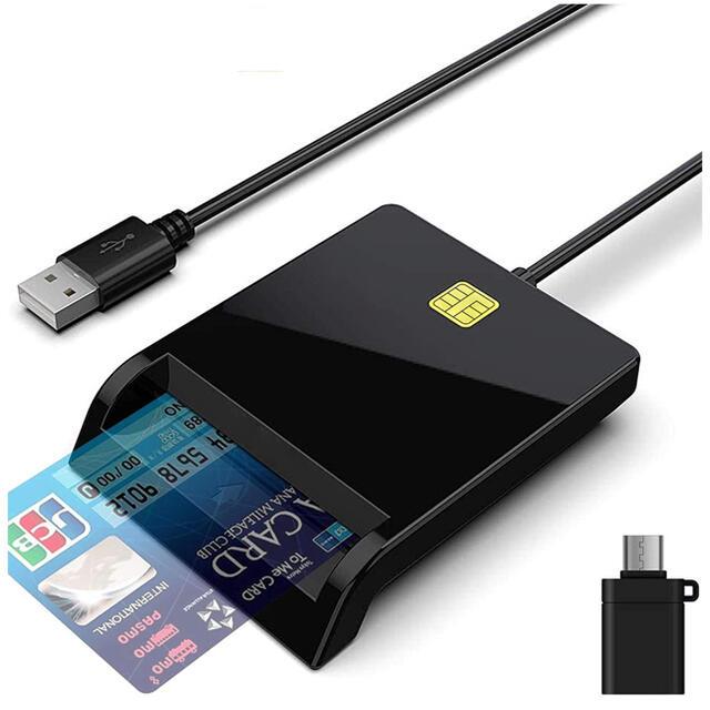 接触型ICカードリーダー  ライタ スマホ/家電/カメラのPC/タブレット(PC周辺機器)の商品写真