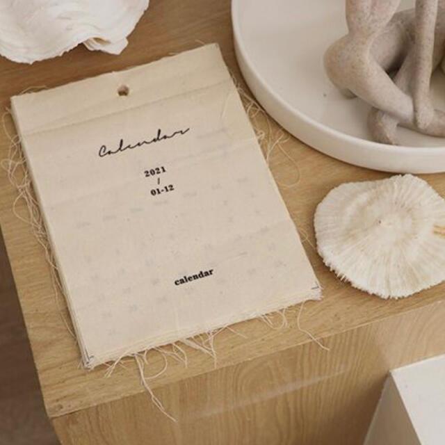 布カレンダー タペストリー 韓国インテリア 北欧インテリア 雑貨  エンタメ/ホビーの美術品/アンティーク(絵画/タペストリー)の商品写真