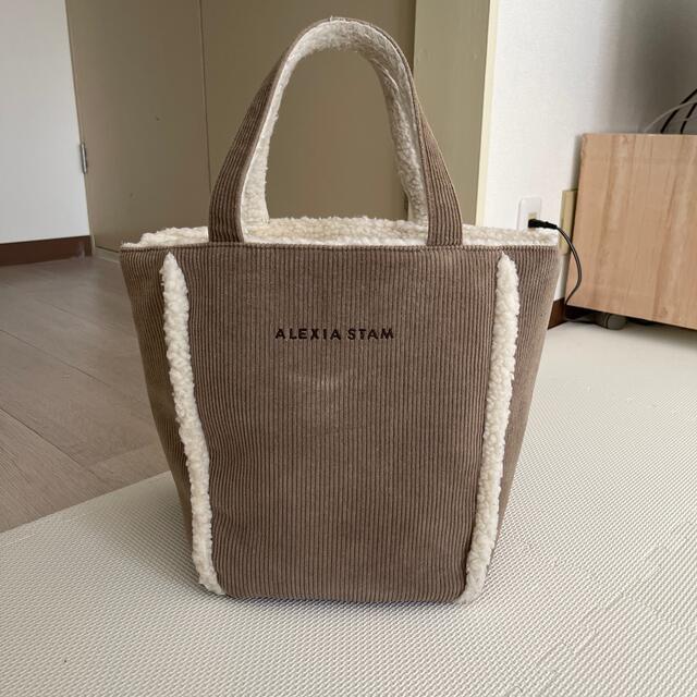 ALEXIA STAM(アリシアスタン)のALEXIASTAM アリシアスタン ボア トートバック マザーズバック レディースのバッグ(トートバッグ)の商品写真