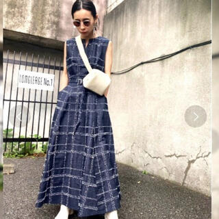 Ameri VINTAGE - Ameri VINTAGE アメリ NEEDLE CHECK DRESS デニム
