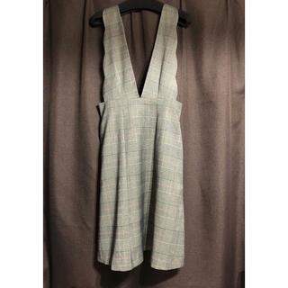 クチュールブローチ(Couture Brooch)のCouture brooch  グレンチェックジャンパースカート  M(ロングワンピース/マキシワンピース)