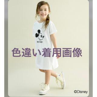 ナルミヤ インターナショナル(NARUMIYA INTERNATIONAL)のb・ROOM:ミッキーマウスデザインかすれプリントワンピース(ワンピース)