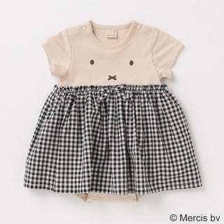petit main - プティマイン×ミッフィー スカートつきロンパス