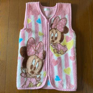 ディズニー(Disney)のベビーミニーのスリーパー ベスト(毛布)