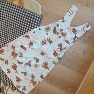 PINK HOUSE - ピンクハウス ジャンパースカート クマ柄 オフホワイト