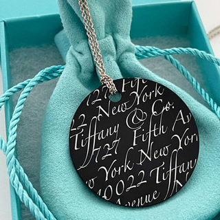 Tiffany & Co. - 【新品未使用】ティファニー ノーツ ペンダント オニキス ラージサイズ