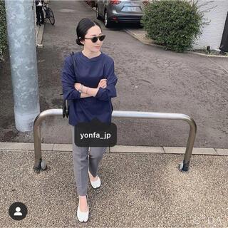 DEUXIEME CLASSE - yonfa ヨンファ modern L/S tee (navy blue)