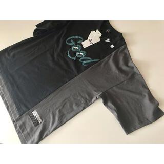 ミハラヤスヒロ(MIHARAYASUHIRO)のGU  ミハラヤスヒロ ビックキリカエT (5分袖)MY 黒 L (Tシャツ/カットソー(半袖/袖なし))