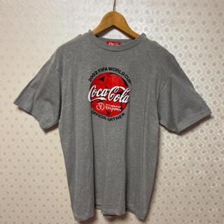コカコーラ(コカ・コーラ)の❇️コカコーラ❇️2002年日韓サッカーワールドカップ記念モデル❇️半袖Tシャツ(記念品/関連グッズ)