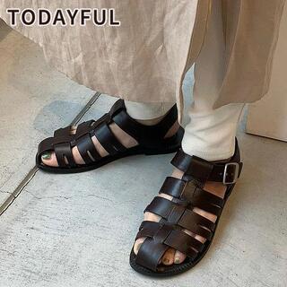 TODAYFUL - TODAYFUL Leather Belt Sandals