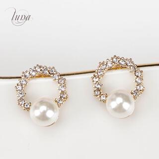 4℃ - Pearl Round pierce★s925 post  mini