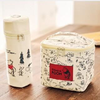 クマノプーサン(くまのプーさん)のくまのプーさん ランチにちょうどいい大きさの保冷バッグ&ペットボトルホルダー(弁当用品)