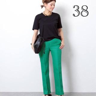 DEUXIEME CLASSE - 新品タグ付■coco パンツ No3■グリーン 38■ドゥーズィエムクラス