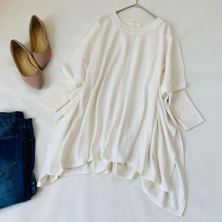 Spick and Span - 美品✨スピックアンドスパン ニット 白 ホワイト 麻 春服 オーバーサイズ