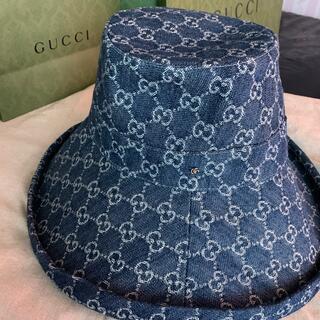 Gucci - GUCCI   グッチデニムハット  新品 帽子