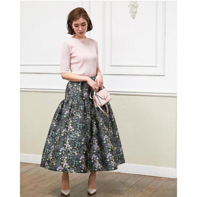 本日のみ値下げ seventen セブンテン ラッフルジャガードスカート レディースのスカート(ロングスカート)の商品写真