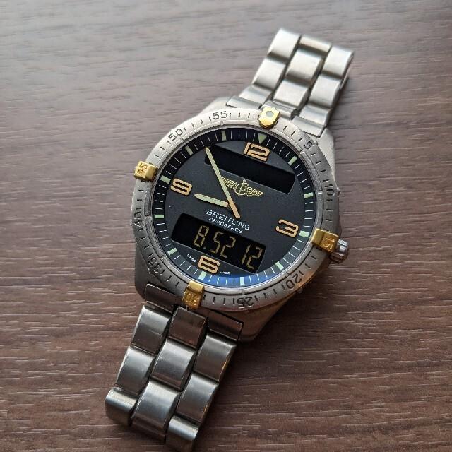 BREITLING(ブライトリング)のブライトリング BREITLING エアロスペース 腕時計 ビンテージ メンズの時計(腕時計(アナログ))の商品写真
