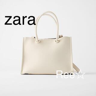 ZARA - ZARA ミニマル ミニトートバッグ ポーチつき ザラ