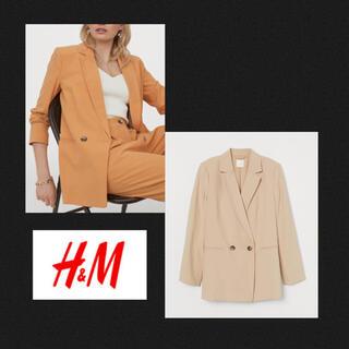 H&M - 新品✨H&M ベージュ ダブルブレストジャケット テーラードジャケット