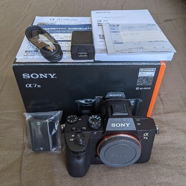 SONY(ソニー)のSONY α7Ⅲ ボディ 新品(商品説明要確認) スマホ/家電/カメラのカメラ(ミラーレス一眼)の商品写真