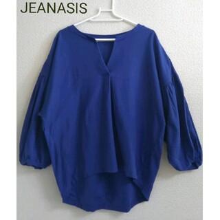JEANASIS - 【美品】JEANASIS パフスリーブカットソー 鹿の子ポロシャツ素材