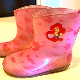ディズニー(Disney)のレインブーツ アリエル 19.0 EE  長靴(長靴/レインシューズ)