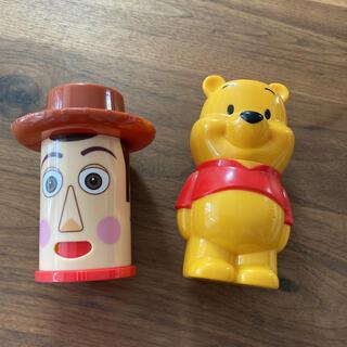 ディズニー(Disney)のトイストーリー ウッディ&プーさんふりかけケース(容器)