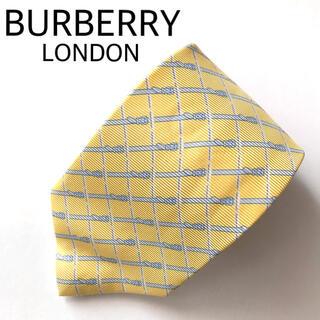 BURBERRY - 【正規品 未使用】バーバリー ロンドン ネクタイ イエロー