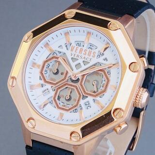 VERSACE - 【新品即納】ヴェルサス ヴェルサーチ メンズ腕時計 クロノグラフ スケルトン
