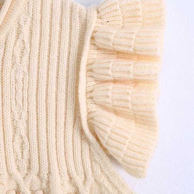 ZARA(ザラ)のフリル袖 ニット レディースのトップス(ニット/セーター)の商品写真