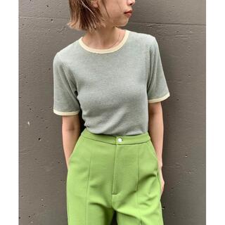 Kastane - 完売品 入手困難 新品 Kastane 細リブリンガーボーダーTシャツ