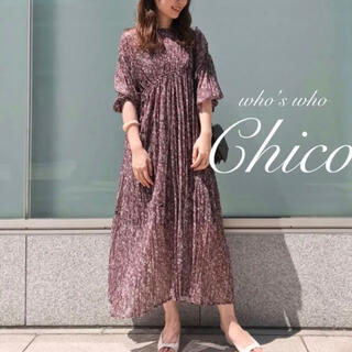 who's who Chico - 新品【Chico】小花柄シアーワッシャーワンピース