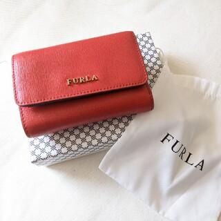 Furla - FURLA 三つ折り財布 赤