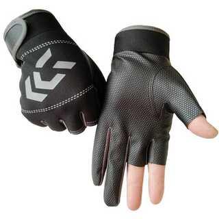 フィッシンググローブ 3本カット ストレッチ 立体成型 グリップ 防寒 保護(ボクシング)