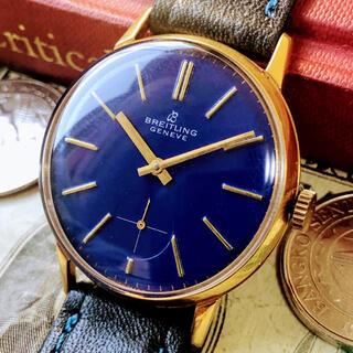 ブライトリング(BREITLING)の#1314【お洒落なブルー文字盤】メンズ 腕時計 ブライトリング 動作良好 (腕時計(アナログ))