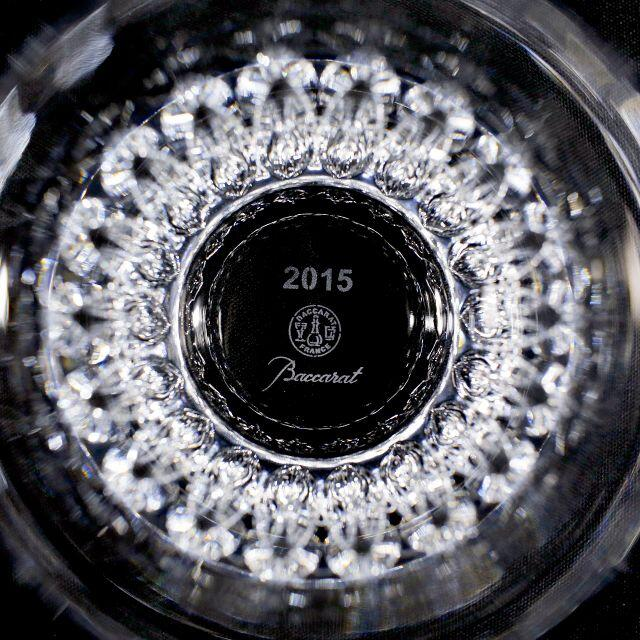 Baccarat(バカラ)の【極美品 送料込】バカラ イヤーグラス 2015年 ローザ ペア 箱あり インテリア/住まい/日用品のキッチン/食器(グラス/カップ)の商品写真