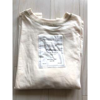 シマムラ(しまむら)のterawear emu バックロゴTシャツ 淡肌色 M(Tシャツ(半袖/袖なし))