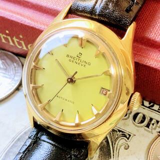 ブライトリング(BREITLING)の#1316【希少な黄色文字盤】メンズ 腕時計 ブライトリング 動作良好 (腕時計(アナログ))