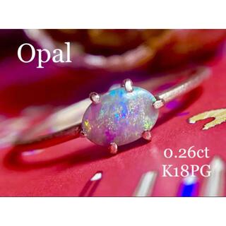 アンティーク風✨艶消しK18ピンクゴールドオパールリング(リング(指輪))