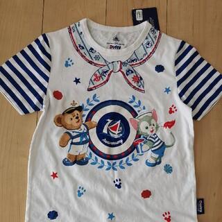 ダッフィー(ダッフィー)の香港ディズニー 子供Tシャツ Mサイズ(キャラクターグッズ)
