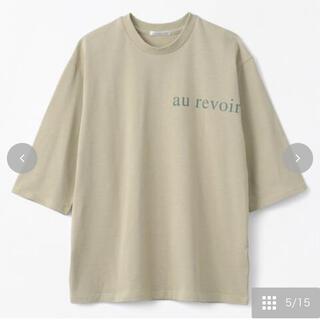 シマムラ(しまむら)のterawear emuクルーネックPO 淡黄緑M(Tシャツ(半袖/袖なし))