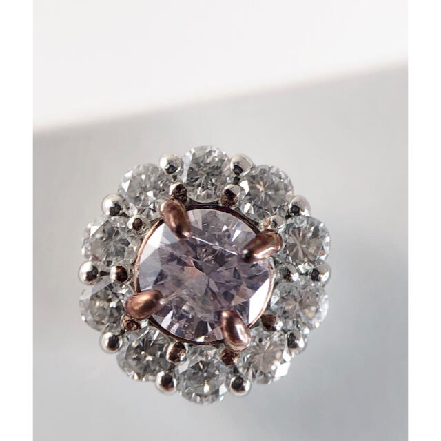 キラキラshop 天然ピンクダイヤ ピアス アーガイル 大人気 豪華  pink レディースのアクセサリー(ピアス)の商品写真