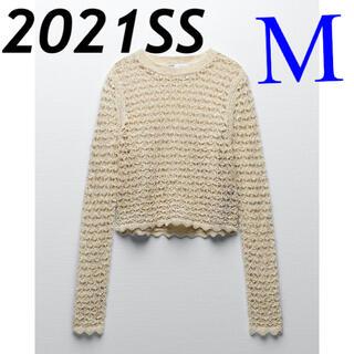 ZARA - *2021SS*ZARA オープンニットセーター