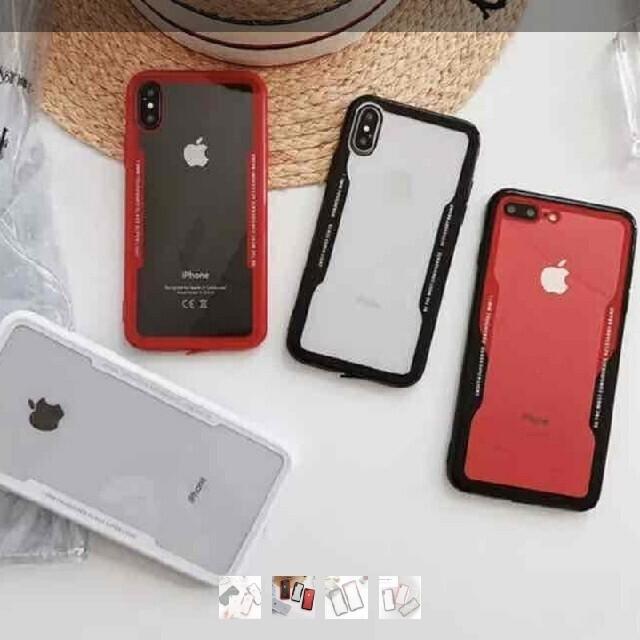インスタ映えiPhoneXS/X赤ケース スマホ/家電/カメラのスマホアクセサリー(iPhoneケース)の商品写真