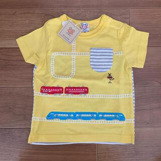 ナルミヤ インターナショナル(NARUMIYA INTERNATIONAL)の【新品タグ付き】電車モチーフ半袖Tシャツ 90cm(Tシャツ/カットソー)