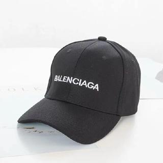 Balenciaga調節可能ロゴキャップ刺しゅう入り#ブラック