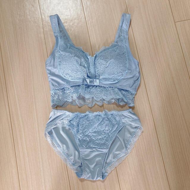 しまむら(シマムラ)のしまむら   ナイトブラ L   水色 レディースの下着/アンダーウェア(ブラ&ショーツセット)の商品写真