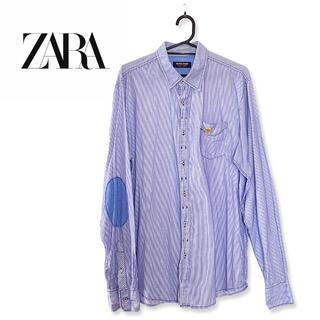 ZARA - ZARA ザラ ストライプシャツ トリコロール チェック